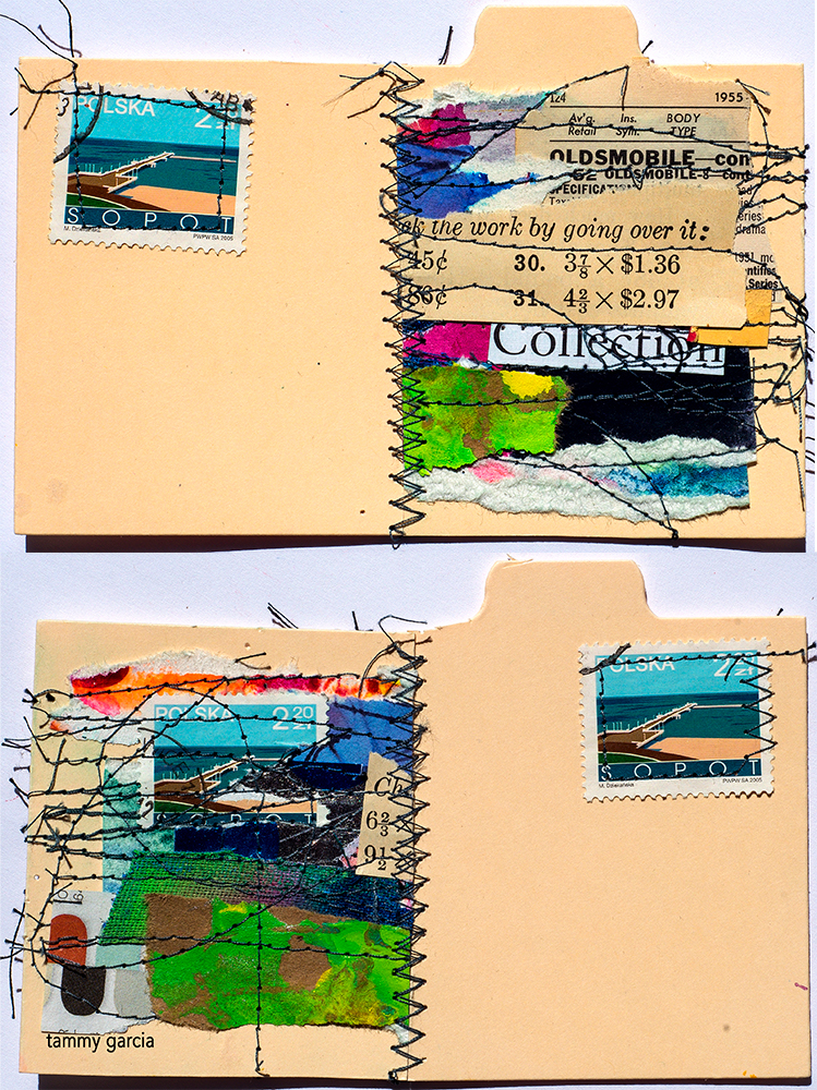 Mail art by Tammy Garcia https://daisyyellowart.com