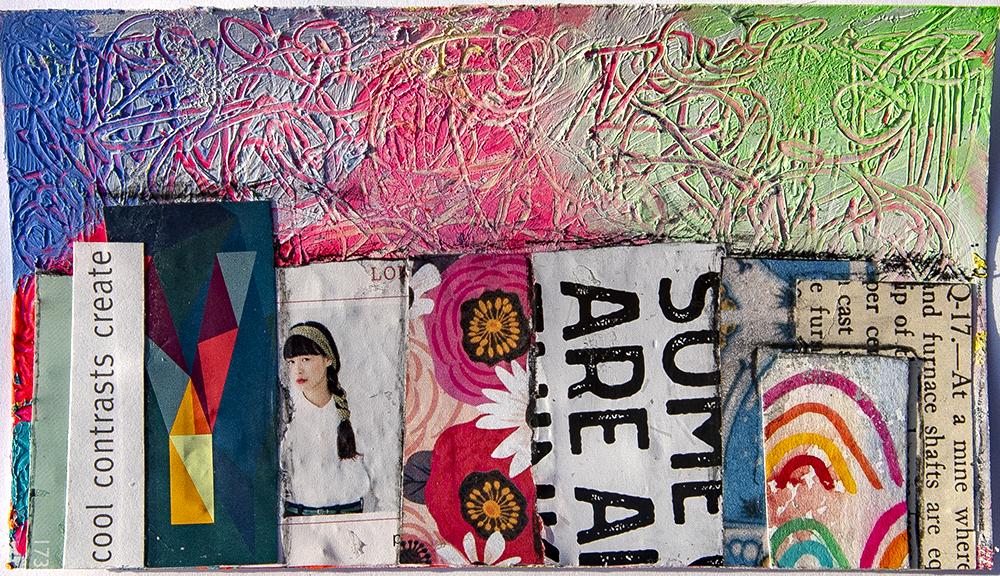 "3x5"" mixed media collage by Tammy Garcia https://daisyyellowart.com"