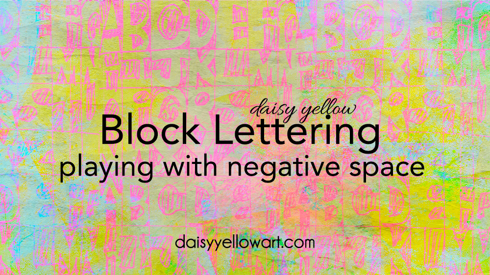 Tutorial:  Drawing block letters .