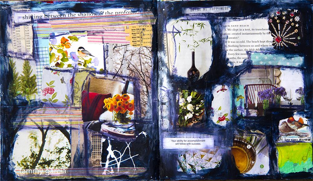 Art journal by Tammy Garcia https://daisyyellowart.com