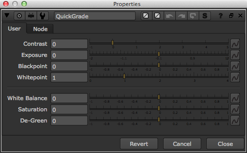 QuickGrade default parameters.