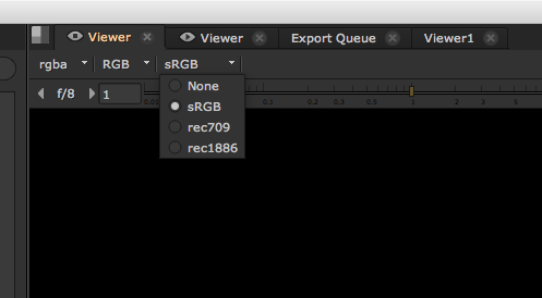 The Timeline Viewer gamma controls.