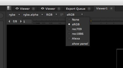 The Node Graph Viewer gamma controls.