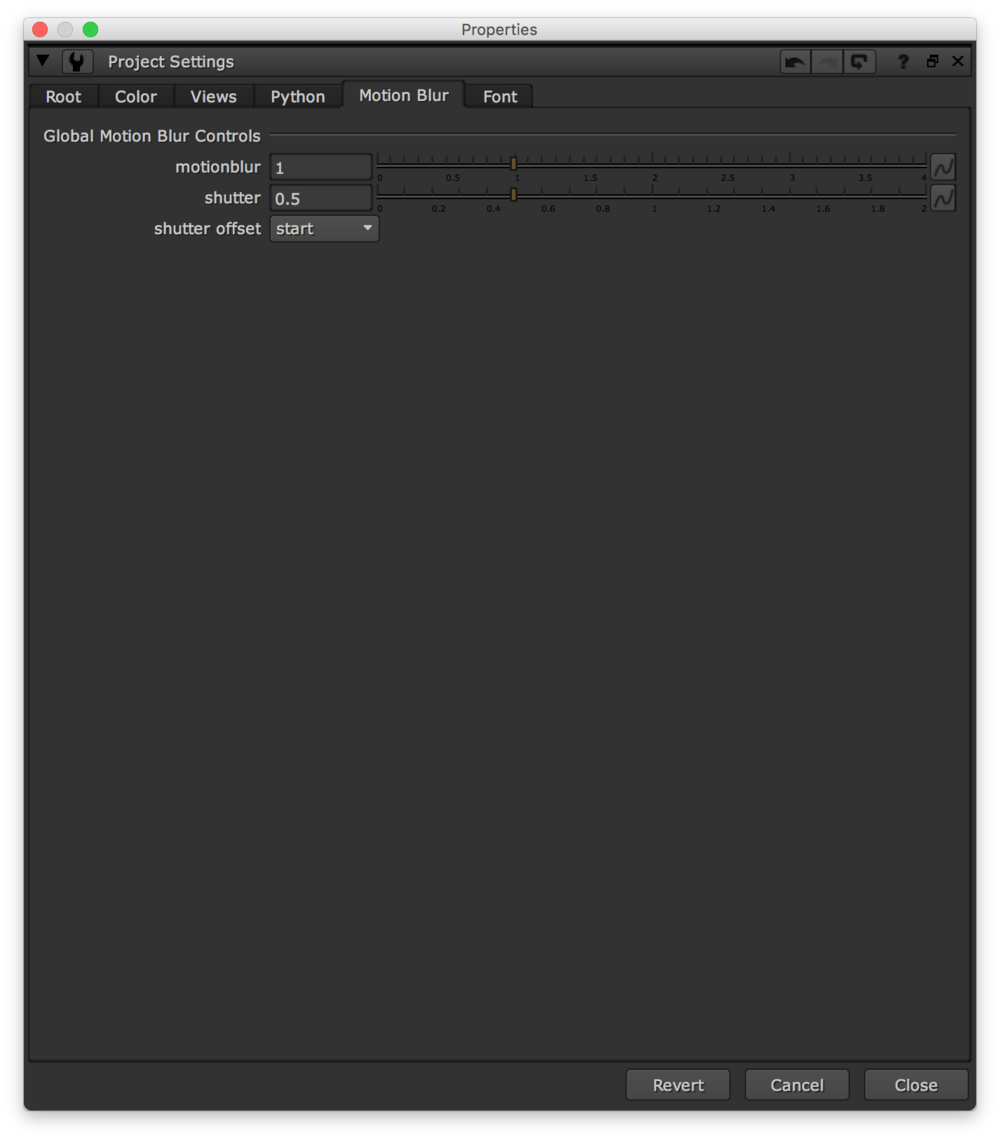 The Motion Blur tab in Project Settings