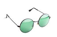 Stock photograph of groovie sunglasses.