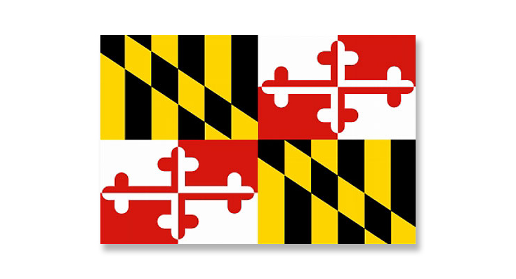 Maryland's State flag. Top of the fluttering heap.