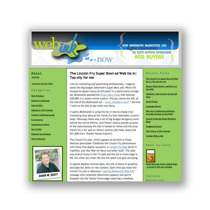 WebInkNow  blog | 12.20.2005