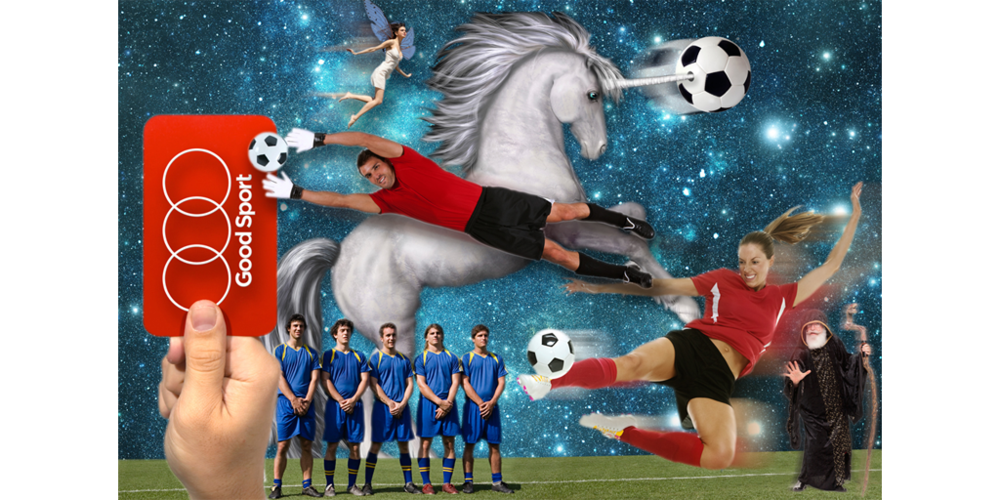 The Good Sport Soccer Unicorn