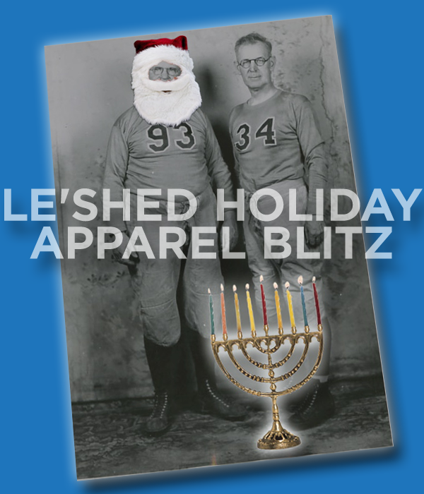 Web ad for annual holiday apparel sale held at the SciCoh equipment shed.