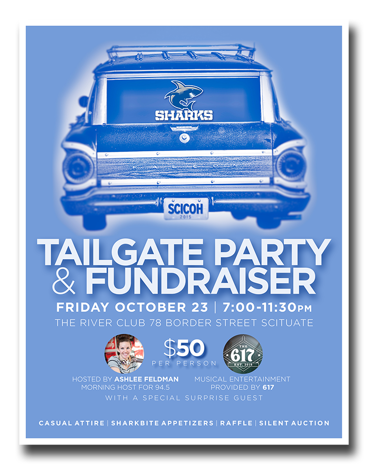 Poster for semi-annual fundraiser (2015).