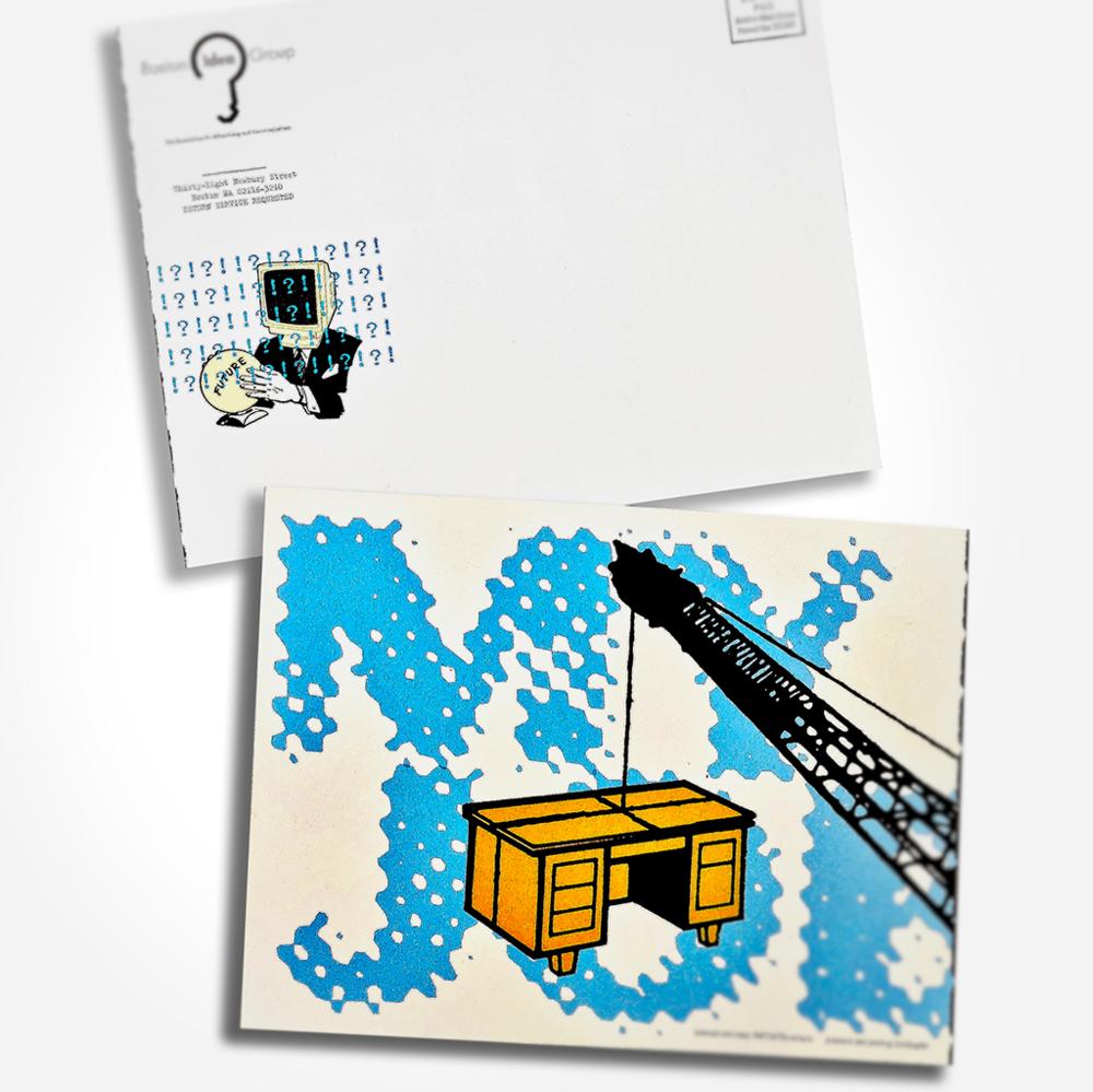 mailing panel & back