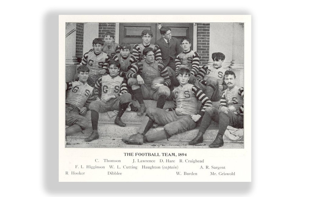 Groton School football team, 1894.