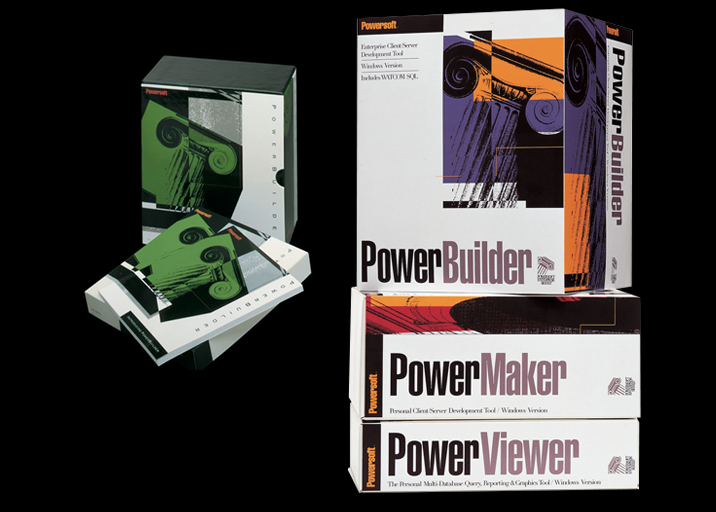 PowerBuilder 1.0, PowerBuilder 2.0, PowerMaker and PowerViewer packages, EYMER DESIGN Laboratories + Think Tank