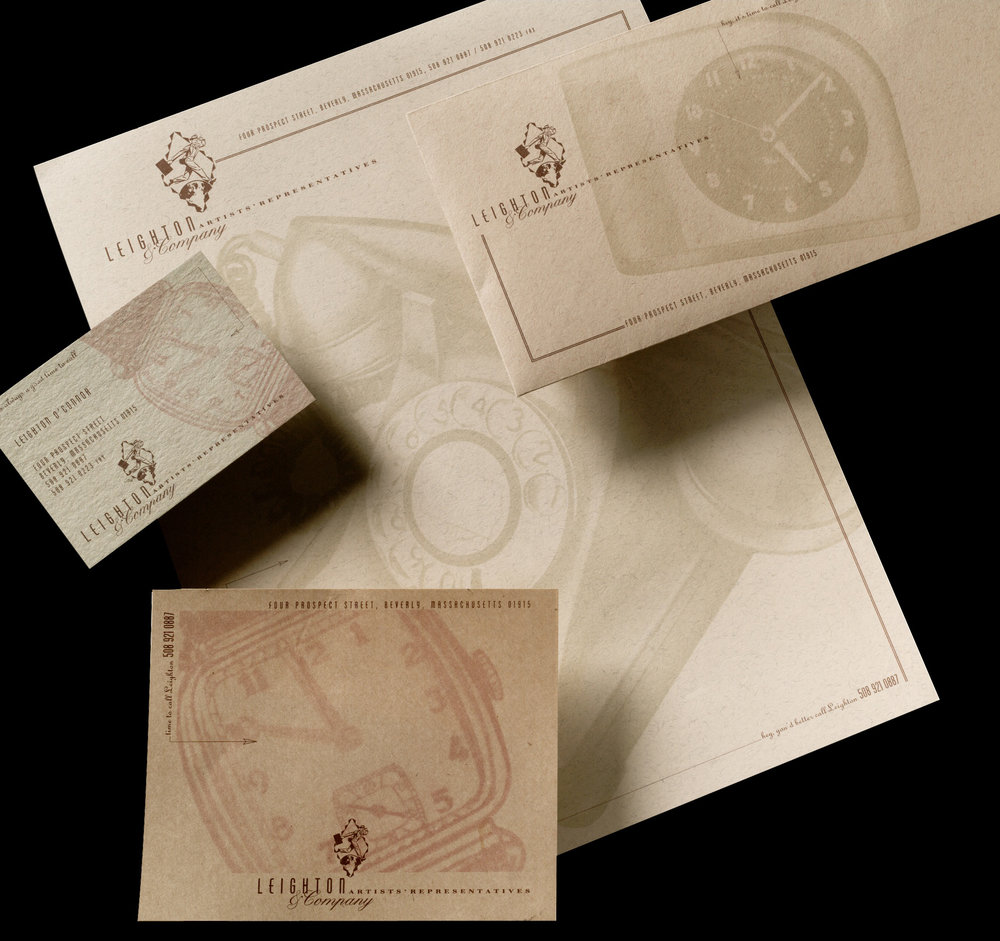 Stationery Package, Leighton & Company Artists' Representatives, EYMER BRAND Laboratories + Think Tank