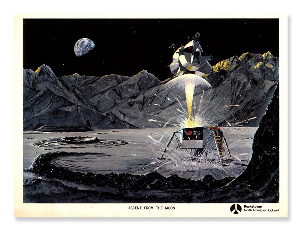 As a practicing graphic designer, an avid fan of design history and connoisseur of retro art, I found great pleasure perusing through the Apollo 11 Press Kit Collection. Above are a few of my favorites.