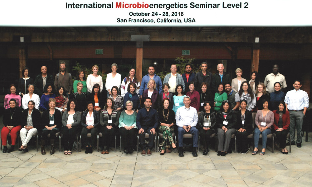 Internacional Microbioenergetics Seminar Level 2. San Francisco. USA 2016.
