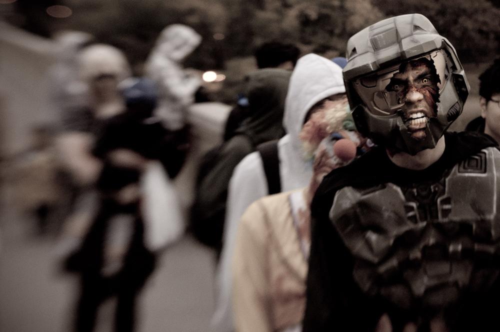 Zombie Walk for Dark Bridges Film Festival - Saskatoon, Sk Canada