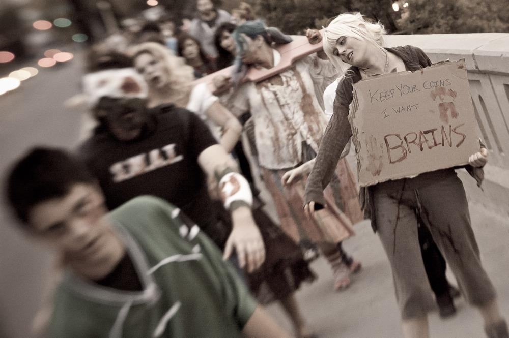"""Brains"" Zombie Walk: Saskatoon, Canada 2011"