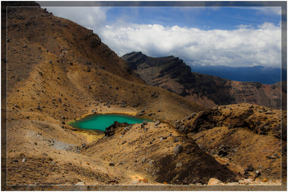 """Emerald Lake at Tongariro Alpine Crossing"""