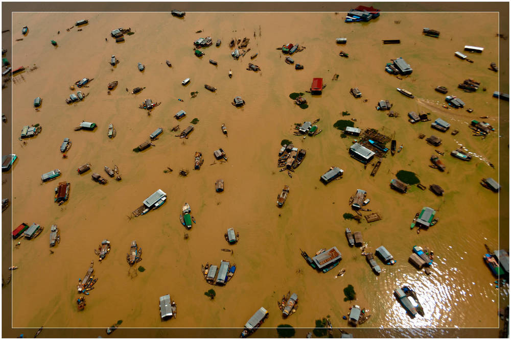 """Tonle Sap From Above"" - Cambodia"