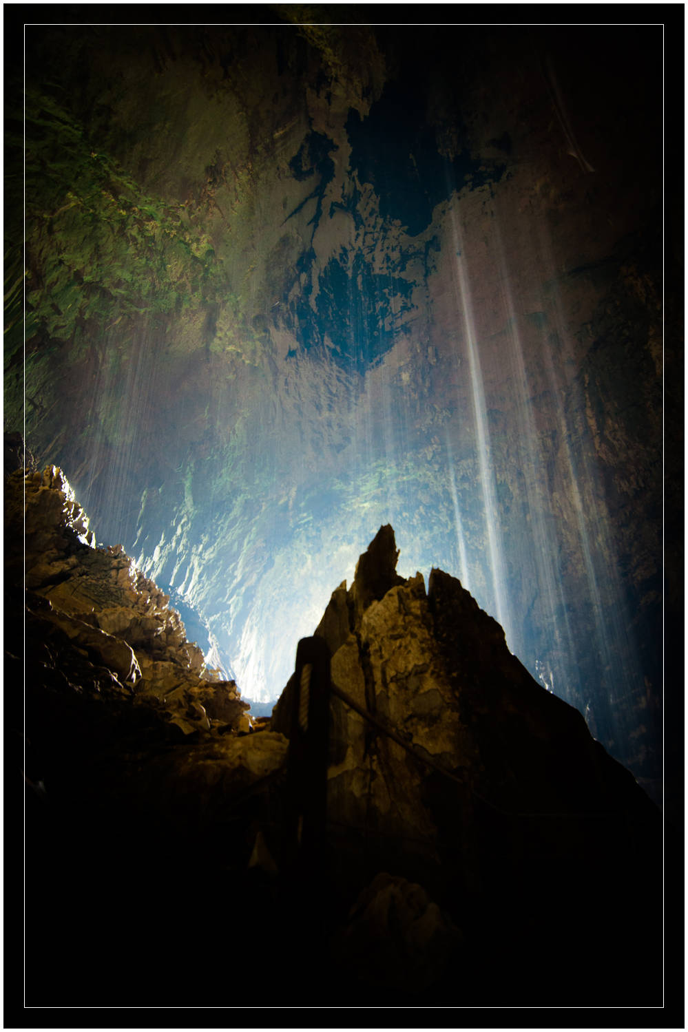 """Cave Waterfalls"" - Deer Cave, Mulu National Park, Sarawak"