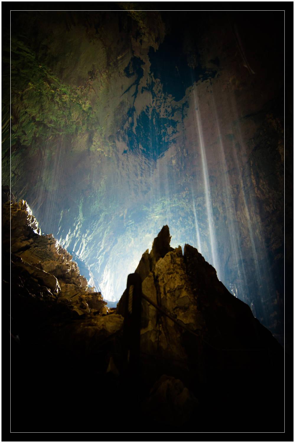 """""""Cave Waterfalls"""" - Deer Cave, Mulu National Park, Sarawak"""