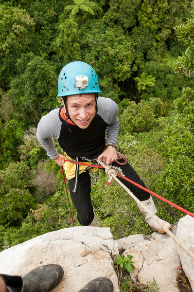 Abseil near Waitomo, NZ
