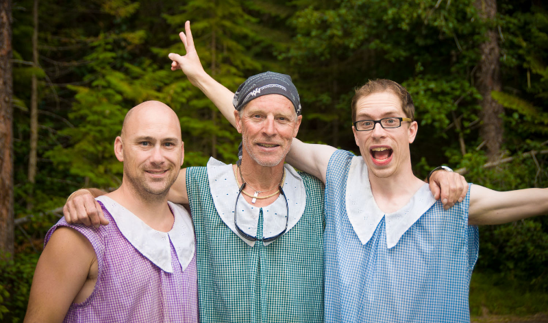 Jeff, Dale, and Dustin; 5 days, 70km and 0 showers later.   © Dustin Main 2012
