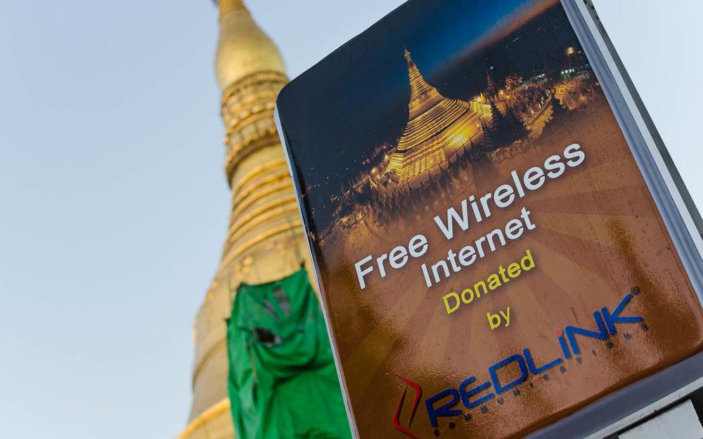 free wifi in myanmar burma