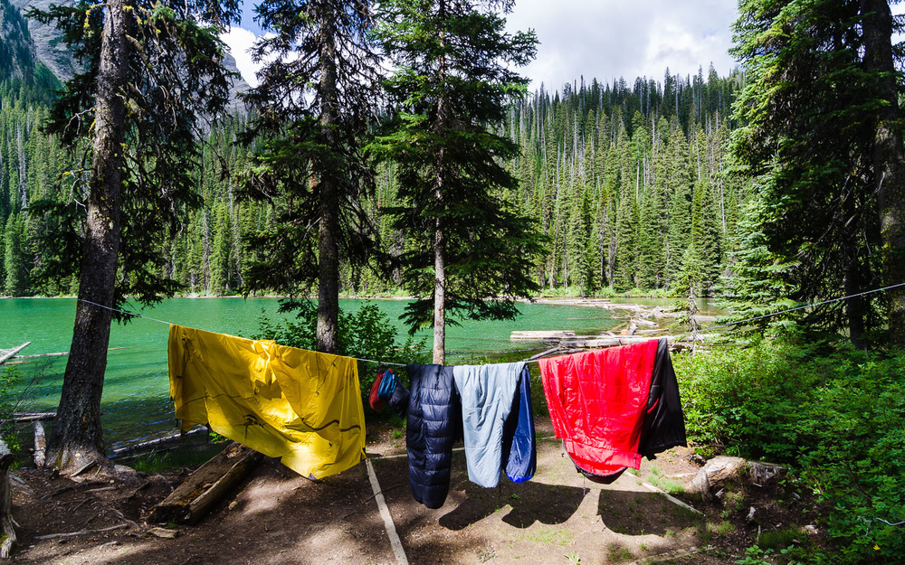 Airing out after the rain.  Fish Lake, Top of the World Provincial Park © Dustin Main 2014