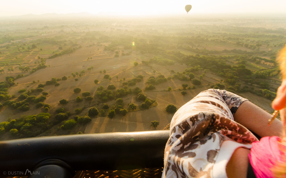 Looking over the plains of Bagan, towards the rising sun. © Dustin Main 2014