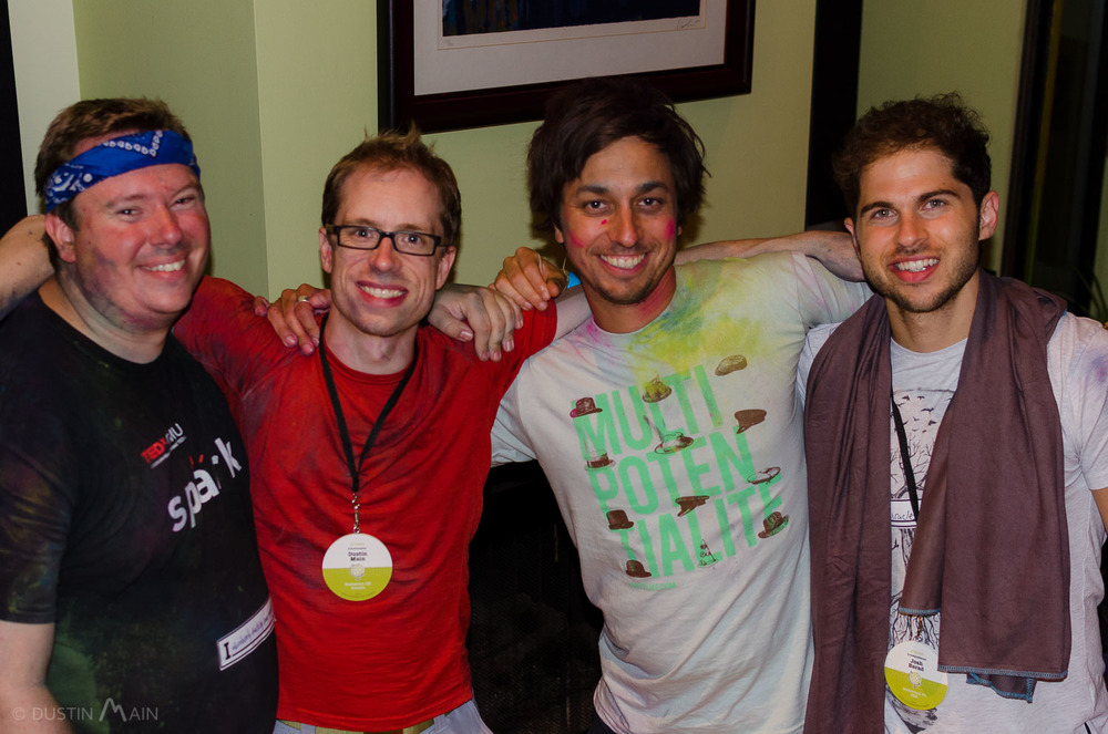 Post WDS 2014 wrapup party with my housemates.  L to R: James Ranson, Dustin Main, Jason Moore, Josh Barad © Dustin Main 2014