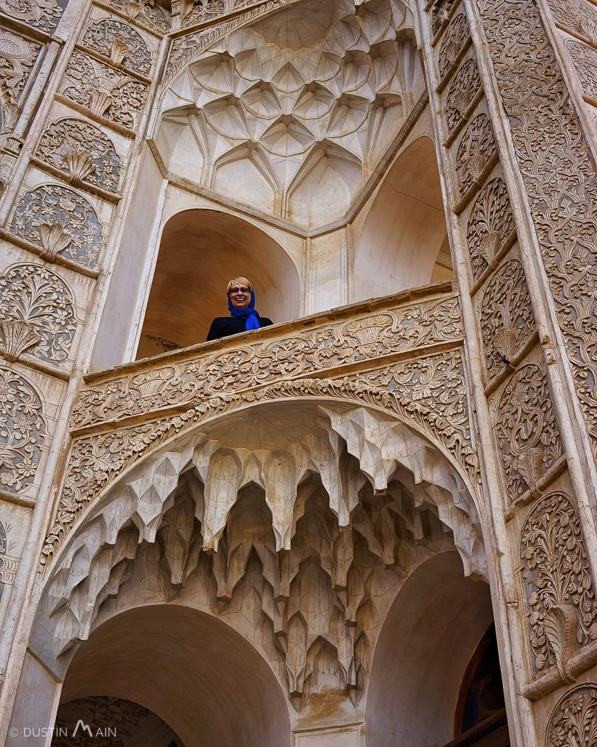 My Mom Shirley at Tabātabāei House.  Kashan, Ira © Dustin Main 2015