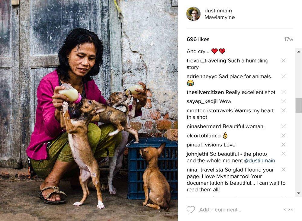 daw tin tin hla dog lady myanmar