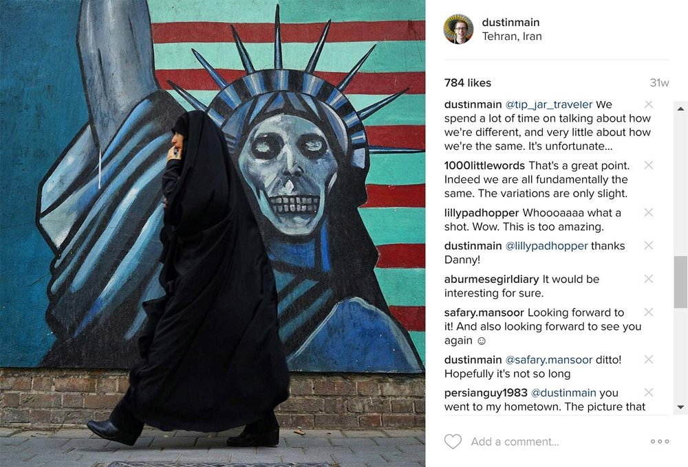 american embassy in iran art