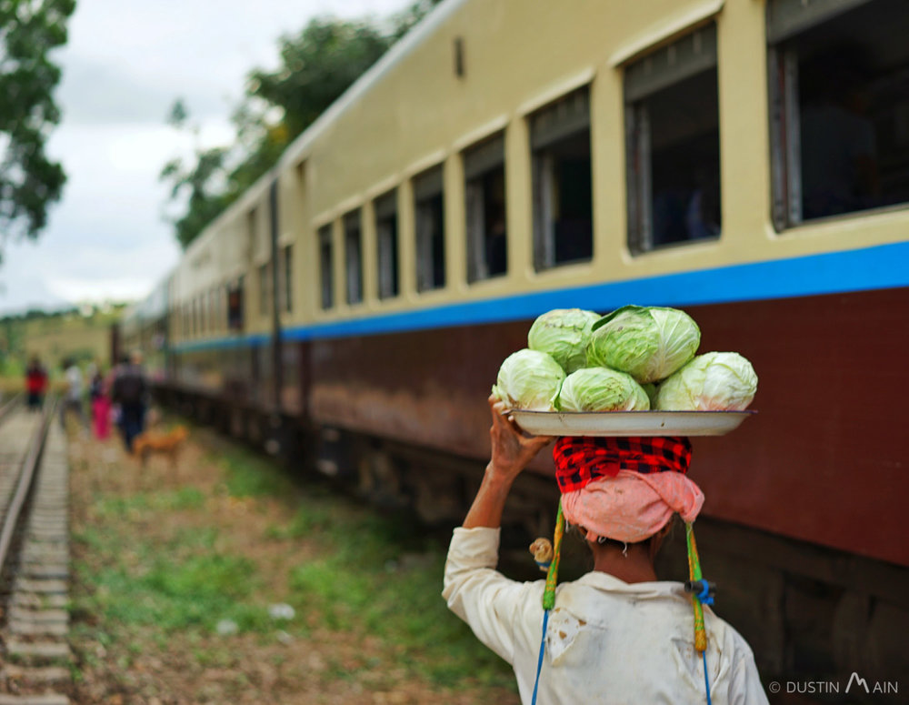 Stopped by the tracks in rural Shan State. © Dustin Main 2016