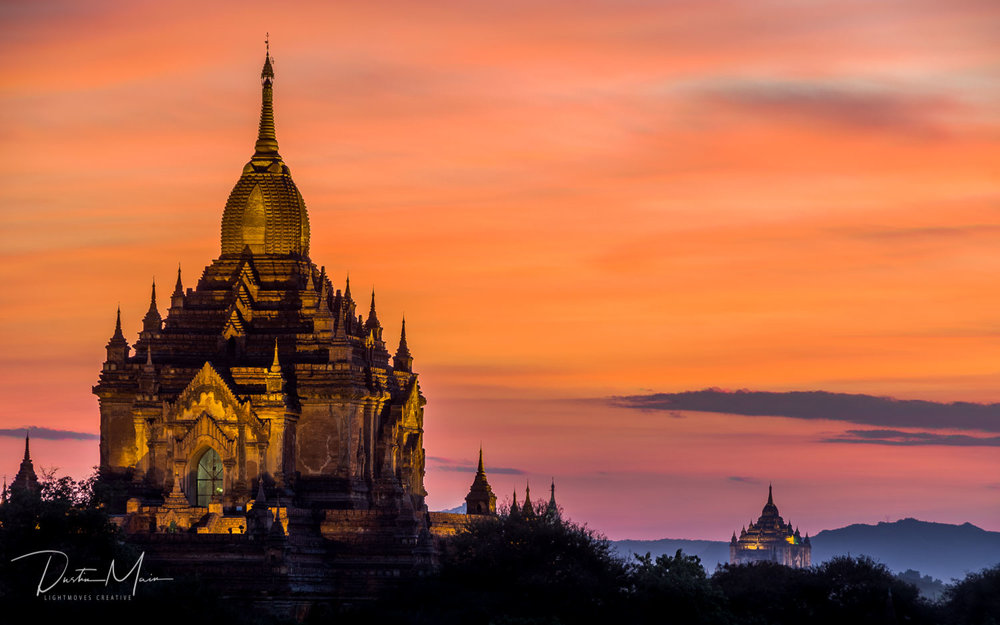 Sunsets in Bagan.  Out of this world - Un-Tour to Myanmar