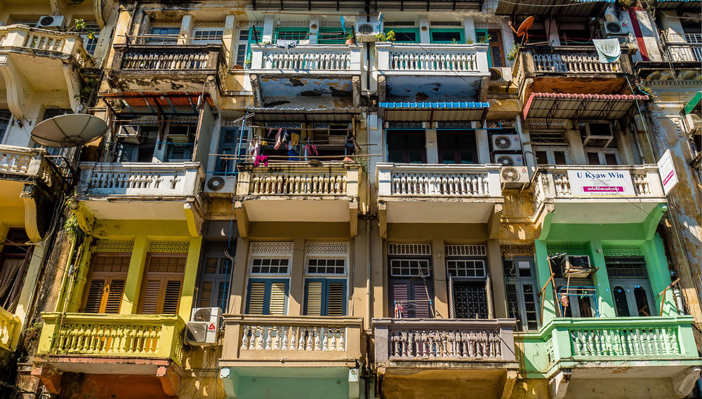 The colorful streets of Yangon. Captured by Kathleen Walsh