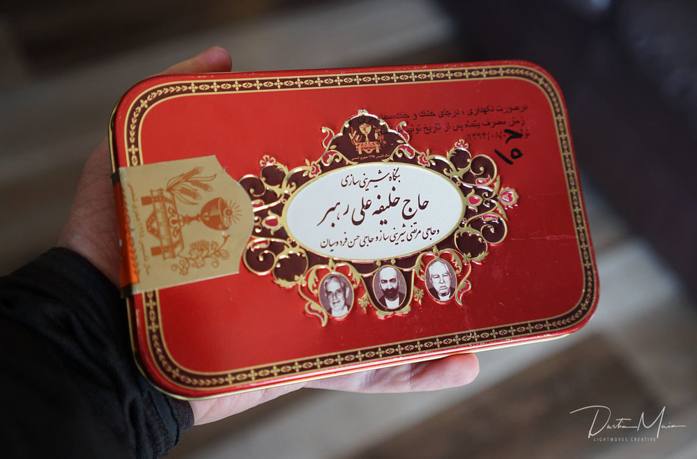 The Iranian sweets container which brought the ants initially. © Dustin Main 2019