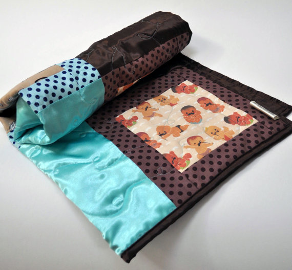 Mustachioed Babies Quilted Throw