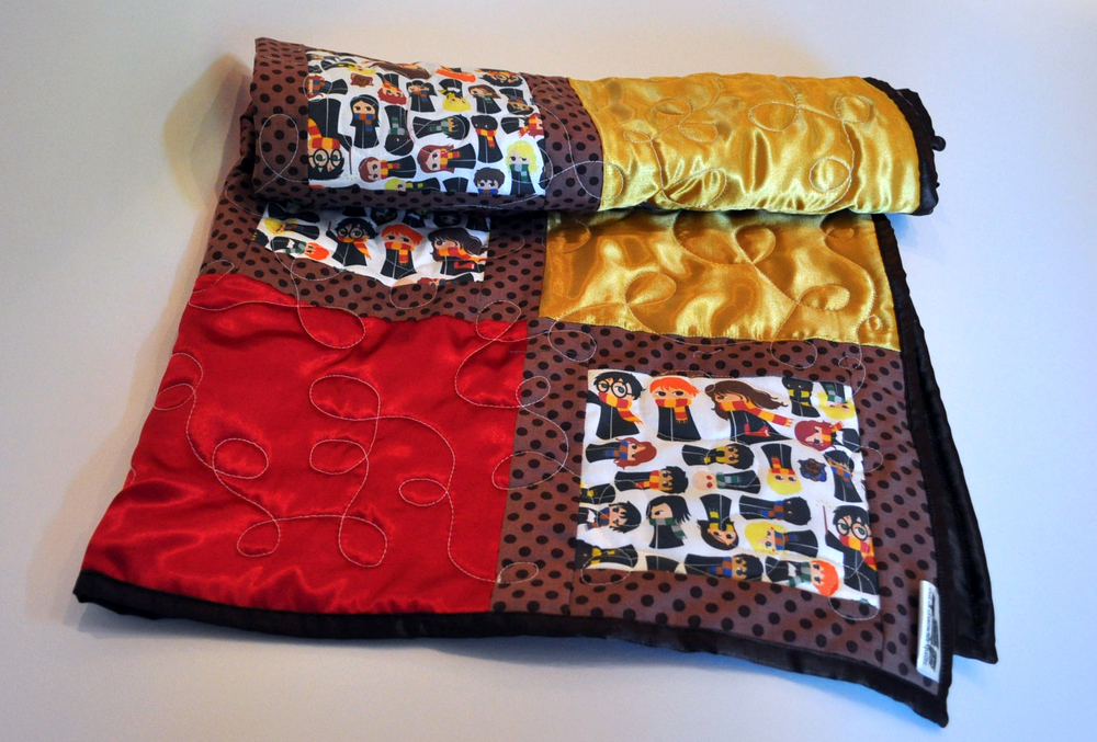 Harry Potter cotton and satin baby quilt