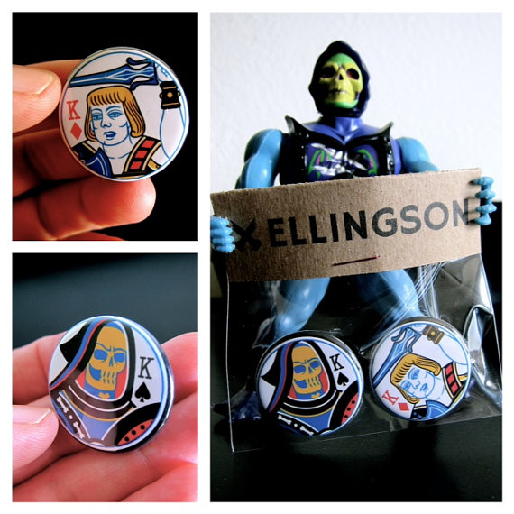 (Masters of the Universe buttons - not gold leafed)
