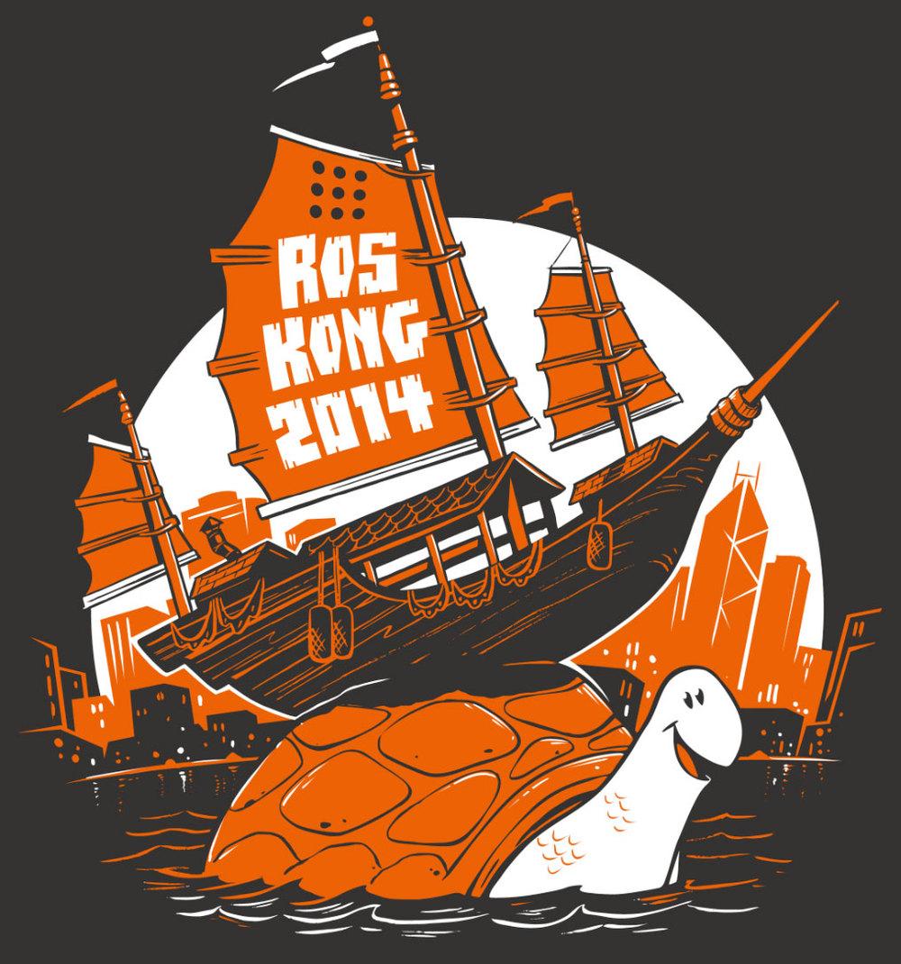 Process post ros kong t shirt design ellingson for Two color shirt design