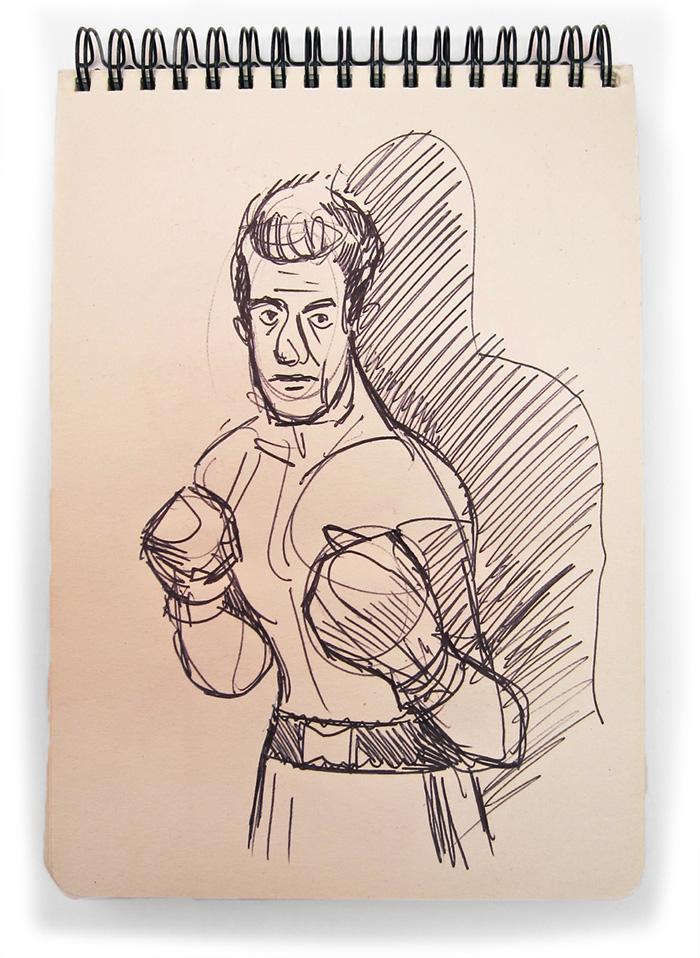 Rocky Graziano Sketch, 2014