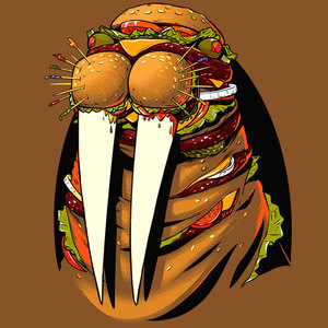 Burger Walrus T-Shirt