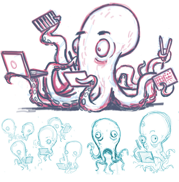 Concept Sketches for the Sensel Octopus