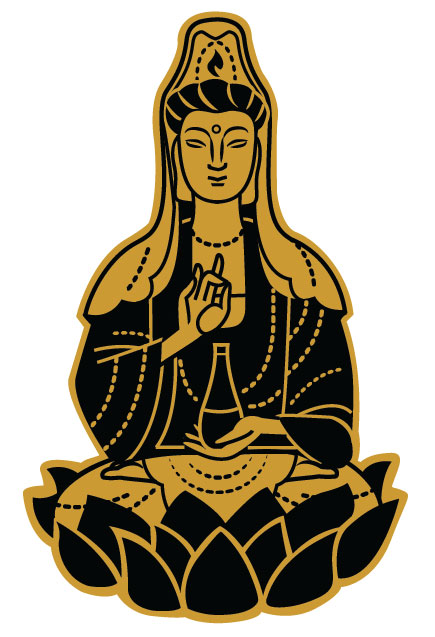 Final artwork for Quan Yin pin