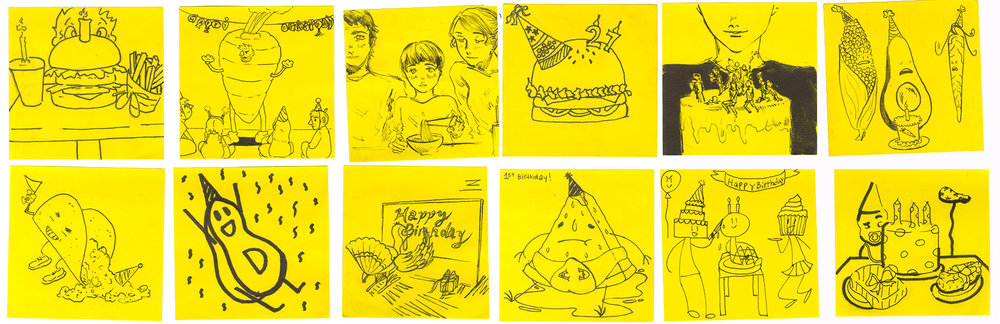 Original Post-It scans