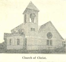 Christian Church of Ashland from the newspaper in 1909.