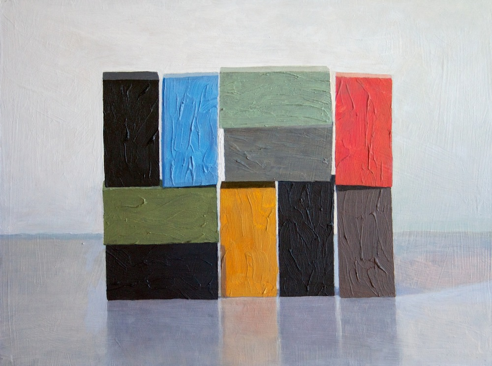 Interstices Gray Green, 2011 Oil on panel, 12 x 16 inches SOLD